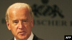 "U.S. Vice President Joe Biden said the United States will ""do more,"" but also ""ask more"" of its allies."