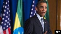 Եթովպիա - ԱՄՆ նախագահ Բարաք Օբաման Ադիս Աբեբայում ասուլիսի ժամանակ, 27-ը հուլիսի, 2015թ․