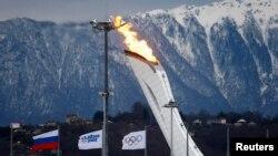 Олимпиада алауы. Сочи, 27 қаңтар 2014 жыл.