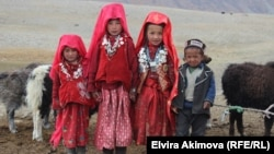 Памирские кыргызы в Нарынской области.