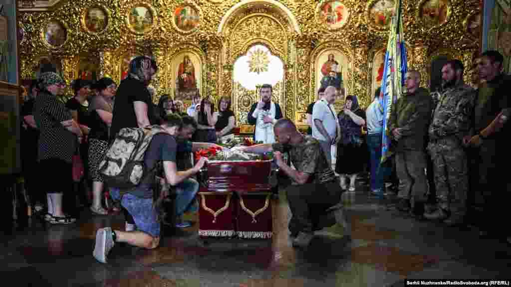 Панахида пройшла в Михайлівському Золотоверхому монастирі