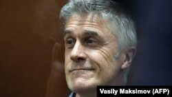Michael Calvey attends a court hearing in Moscow's Basmanny court on February 15.