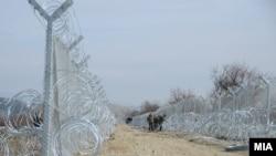 Gardhi i ri në kufirin Maqedoni - Greqi