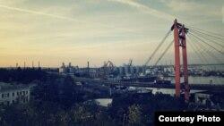 Pamje nga qyteti port Odesa në Ukrainë