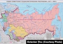 Uniunea Sovietică: hartă de epocă
