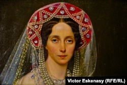 Ivan Kuzmici Makarov, Marea ducesă Maria Alexandrovna (Marie von Hessen) (1840). Detaliu