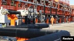 Қашаған мұнай кеніші. 21 тамыз 2013 жыл.