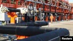 Один из производственных участков нефтяного месторождения Кашаган. 21 августа 2013 года.