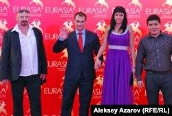Гости фестиваля - двукратный олимпийский чемпион Илья Ильин с супругой Оксаной. Алматы, 17 сентября 2012 года.