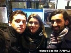 Dorel Toderici, Iolanda Bădiliță și Călin Sas între două vizionări de filme la Strasbourg