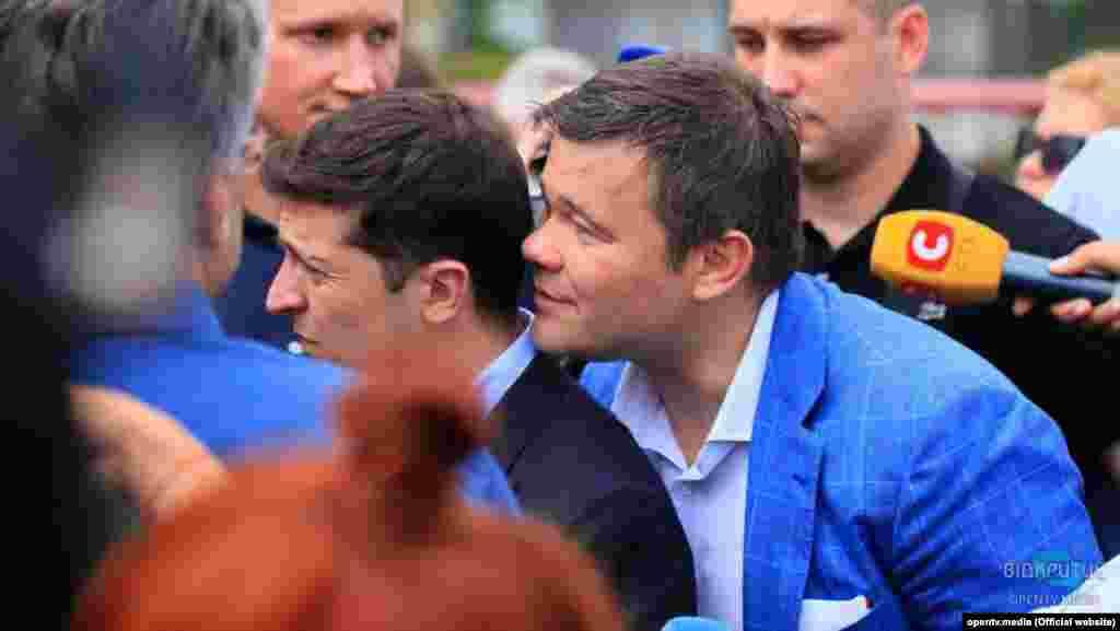 Володимир Зеленський та Андрій Богдан під час візиту в Дніпро, 12 липня 2019 року