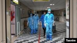 Kamkar hospital in Qom, the epicenter of Iran's coronavirus outbreak. February 28, 2020.
