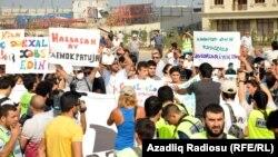 Ադրբեջան -- Ընդդիմության հանրահավաքը, 18-ը օգոստոսի, 2013թ․