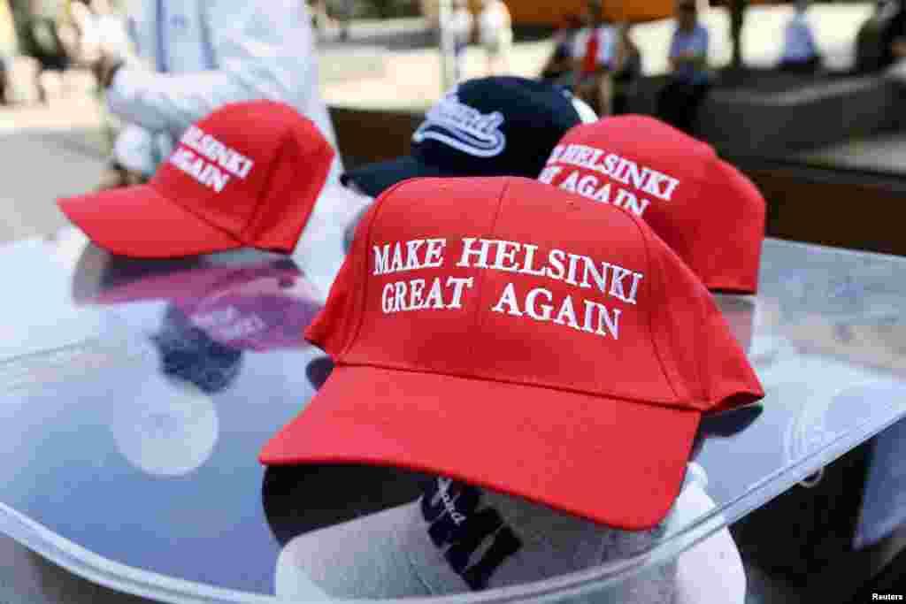 «Вернем Хельсинки былое величие» – парафраз крылатого американского лозунга «Вернем Америке былое величие», которое впервые использовал Рональд Рейган в своей предвыборной кампании в 1980 году, когда Америка переживала период экономического спада, а позже использовал и Дональд Трамп во время последних выборов президента США в 2016 году