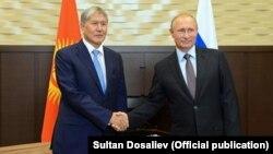 Алмазбек Атамбаев и Владимир Путин. Сочи, 14 сентября 2017 г.