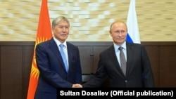 Алмазбек Атамбаев менен Владимир Путин. Сочи. 14-сентябрь, 2017-жыл.