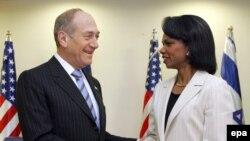 Кондолиза Райс встретилась в Иерусалиме с премьер-министром Израиля Эхудом Ольмертом