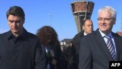 Predsjednik i premijer Hrvatske Ivo Josipović i Zoran Milanović