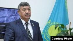 """Qozog'iston Respublikasi o'zbeklari """"Do'stlik"""" hamjamiyati raisi Ikrom Hoshimjonov."""