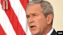 Президент США Джордж Буш сделал заявление о ситуации в Грузии. Вашингтон, 11 августа 2008