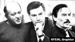 Зьлева направа Генадзь Карпенка, Віктар Ганчар і Юры Захаранка. Першы памёр пры загадкавых абставінах, а двое другіх зьніклі ў 1999 годзе