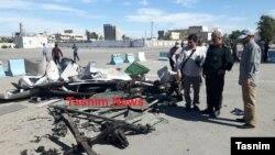 خبرگزاری تسنیم این عکس را از «لاشه خودرو»ی بمبگذار منتشر کرده است.