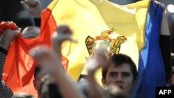 Митинг в Кишиневе. 2009 год