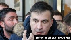 Mihail Saakașvili, Kiev 9 februarie 2018.