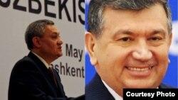O'zbekiston Bosh vaziri Shavkat Mirziyoyev (o'ngda) va Bosh vazir o'rinbosari Rustam Azimov.