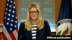 State Department spokeswoman Marie Harf said the move was in response to an IAEA report on Iranian progress.