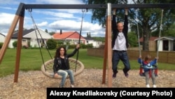 Russian artists Lusine Djanyan and Aleksei Knedlyakovsky in Sweden