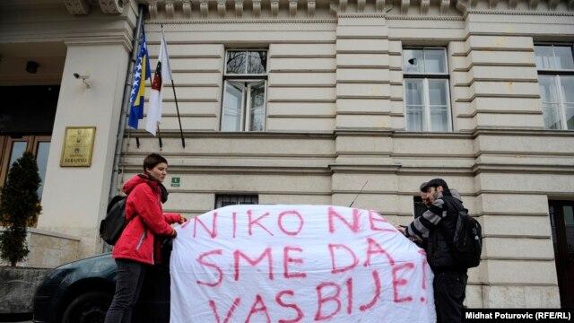 Građani na protestu u Sarajevu