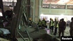 Падение крана в Большой Мечети в Саудовской Аравии