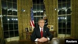 بوش يعلن بداية حرب العراق