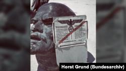 Голова памятника Ленину, июль 1942 года