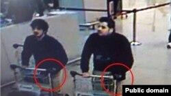 Подозреваемые в совершении взрывов в брюссельском аэропорту.