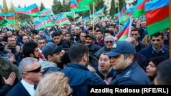 Митинг оппозиции в Баку 28 октября 2017 г.