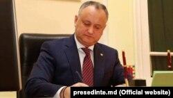 Președintele Igor Dodon, 19 septembrie 2018
