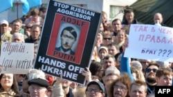 Protest anti-Putin la Kiev