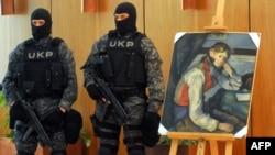 Sezanova slika pronađena u Beogradu, april 2012.