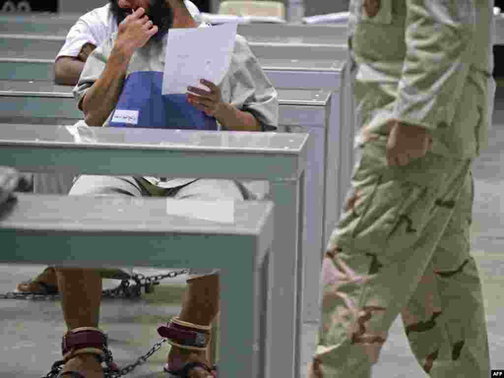 Куба: турма на амэрыканскай ваеннай базе ў затоцы Гуантанама.