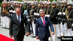 Վրաստանի նախագահ Գիորգի Մարգվելաշվիլիի կողմից Հայաստանի նախագահ Սերժ Սարգսյանի դիմավորման հանդիսավոր արարողությունը, Թբիլիսի, 18-ը հունիսի, 2014թ․