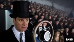 "Actor Colin Firth in a scene from the film ""The King's Speech,"" which revolves around British King George VI's efforts to overcome a debilitating stammer."
