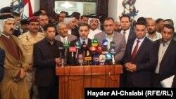 وزير الداخلية في مؤتمر صحفي ببابل