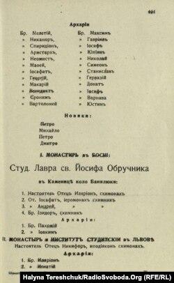 Документ про урочисте освячення Скнилівської лаври