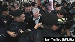 Задержание Эдуарда Лимонова, Москва 31 июля 2013