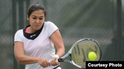 Қазақстан теннисшісі Зарина Дияс (Суретті Қазақстан теннис федерациясы ұсынды)
