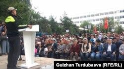Митинг сторонников Алмазбека Атамбаева. Бишкек. 3 июля 2019 года.
