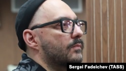 Russian film and theater director Kirill Serebrennikov at his Moscow court hearing on November 7