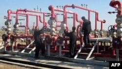 حقل نفط الحلفاوية في محافظة ميسان(الارشيف)